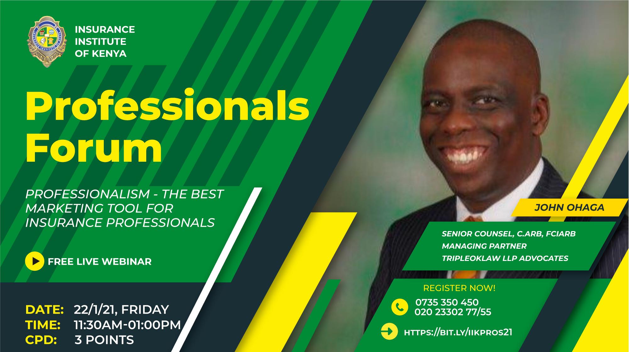 IIK Professionals Forum Poster