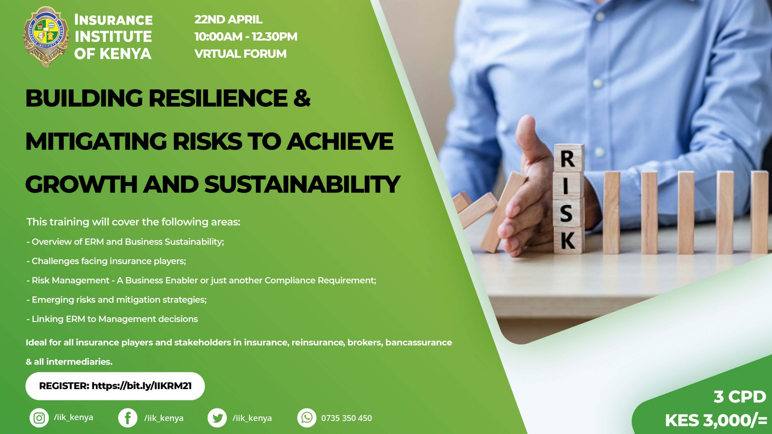IIK Risk Management Forum Poster